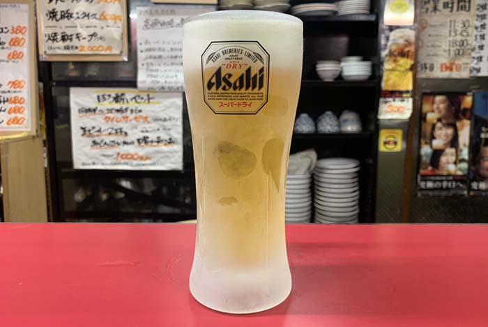 古賀市白龍軒生ビール