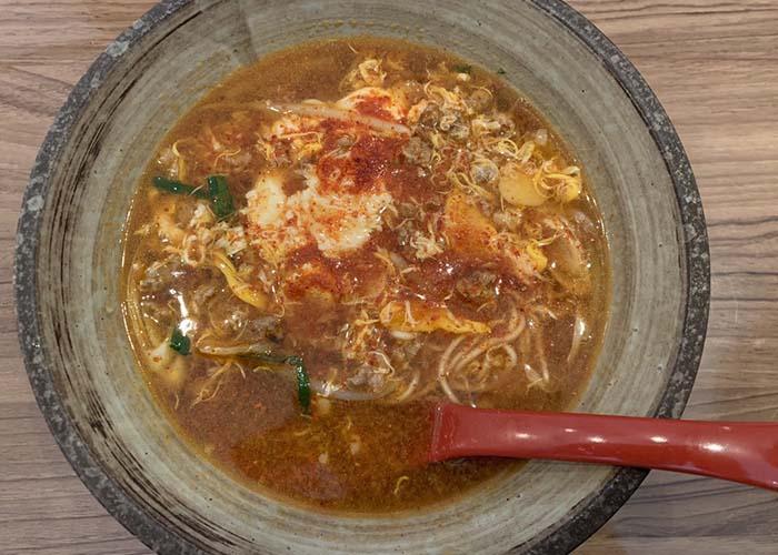 古賀ランチメニュー辛麺